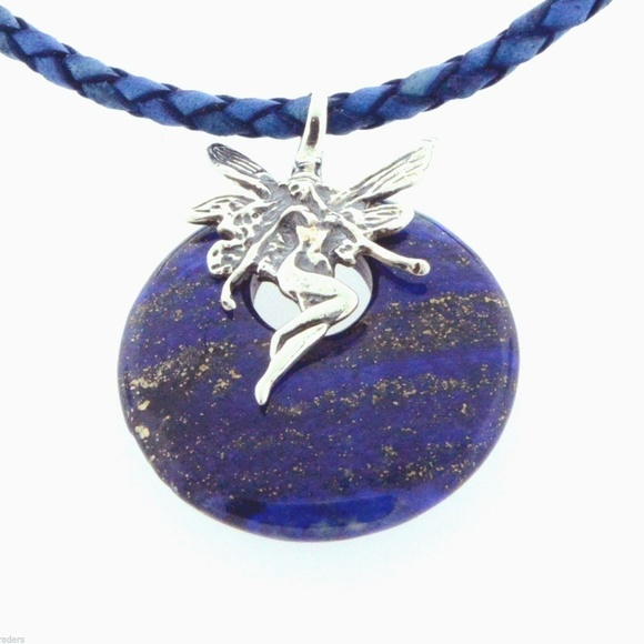 Arizona Artisans Jewelry - Cowgirl Bling Fairy Lapis Lazuli Necklace Leather